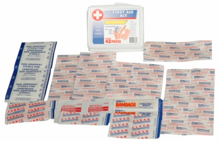 42 PIECE PORTABLE FIRST AID KIT