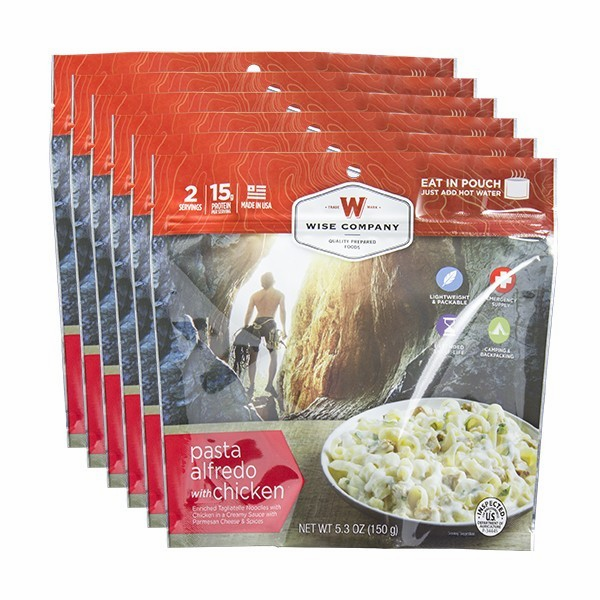 6 PACK COOK IN THE POUCH - PASTA ALFREDO