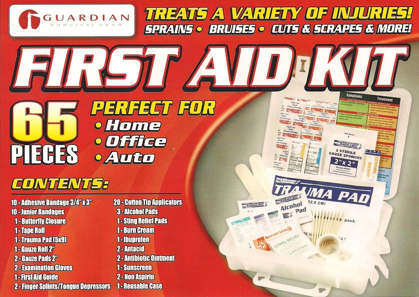 65 PIECE FIRST AID KIT