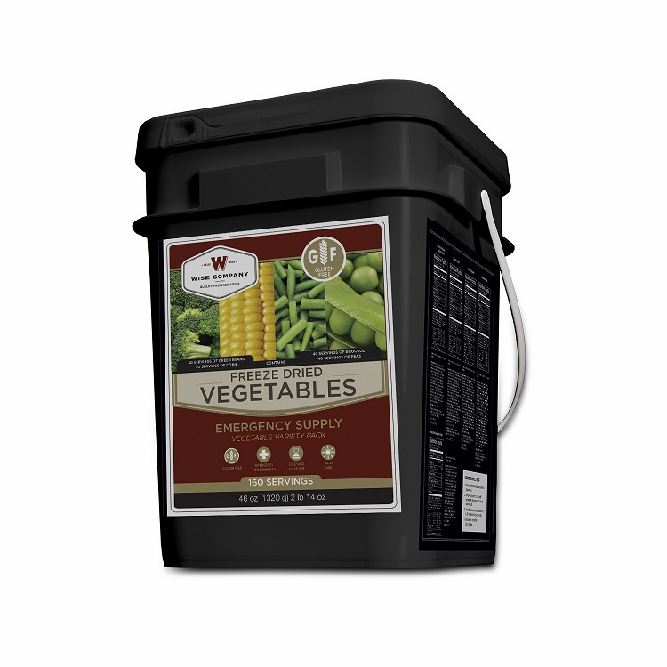 Freeze Dried Vegitable � 160 Svgs Gluten Free