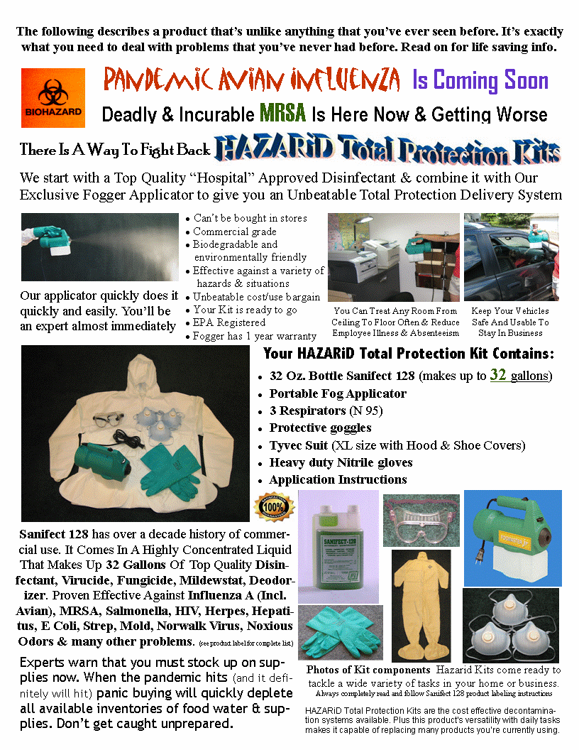 Hazarid Decontamination and Mold Removal Kit
