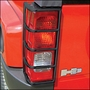 Black Powder Coated Stainless Steel Tail Light Gaurds
