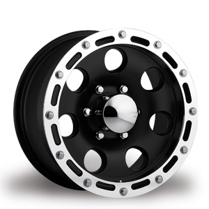 Black Wheels with Simulated Beadlock