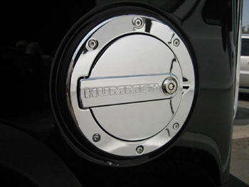 Defenderworx H2 & SUT Billet Chrome Hummer Logo Fuel Door