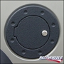 H2 Hummer & SUV Black Powdercoat Fuel Door for 2003-2006