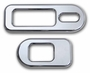 H2 Smooth Chrome Billet Heat Indicator Bezel Set