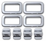 H2 Smooth Chrome Billet Interior Door Lock & Bezel Set