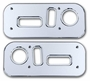 H2 Smooth Chrome Billet Seat Control Bezel Set