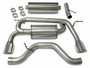 """H3 Hummer Corsa Performance Exhaust 2006-07 2.5"""" Dual Rear Exit"""