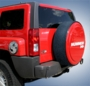 H3 Hummer Locking Hard Tire Cover w/ Black SS Ring