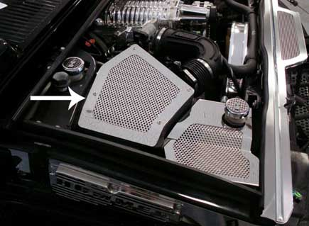 Hpw Hummer H2 Stainless Steel Perforated Air Intake Box Cover