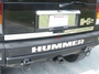 Hummer H2 Stainless Steel 1 Piece Rear Accent Trim