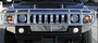 Hummer H2 & SUT OEM Style Polished Stainless Steel Deluxe Wrap Grille Guard