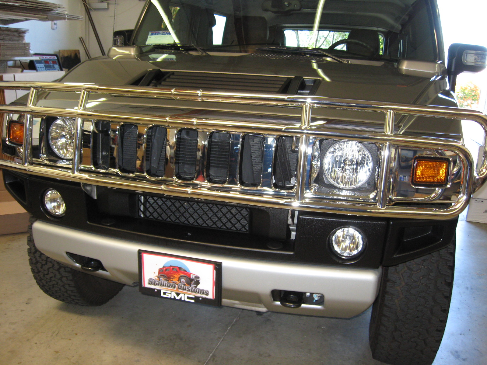 Hummer H12 SUV & SUT Deluxe OE Style Grill Guard Stainless ... | accessories for h2 hummer