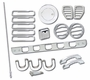 Hummer H3 18 Piece Chrome Ext. Dress Up Kit
