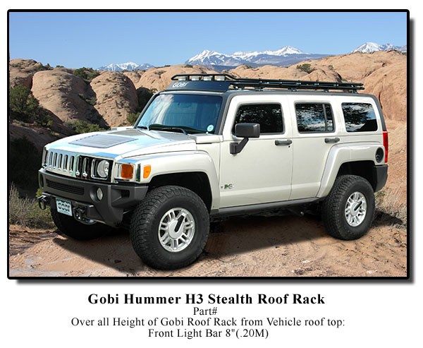 Hummer h3 gobi stealth roof rack free shipping free ladder aloadofball Image collections