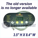 """u AquaCal STA0062, CONTROL PANEL ASSEMBLY 100/120 """"H"""" REVISION 4 BUTTON"""