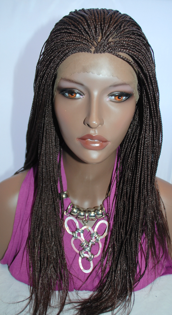 Braided Lace Front Wig Micro Braids Color 33 In 20 Inches Hannah33l20