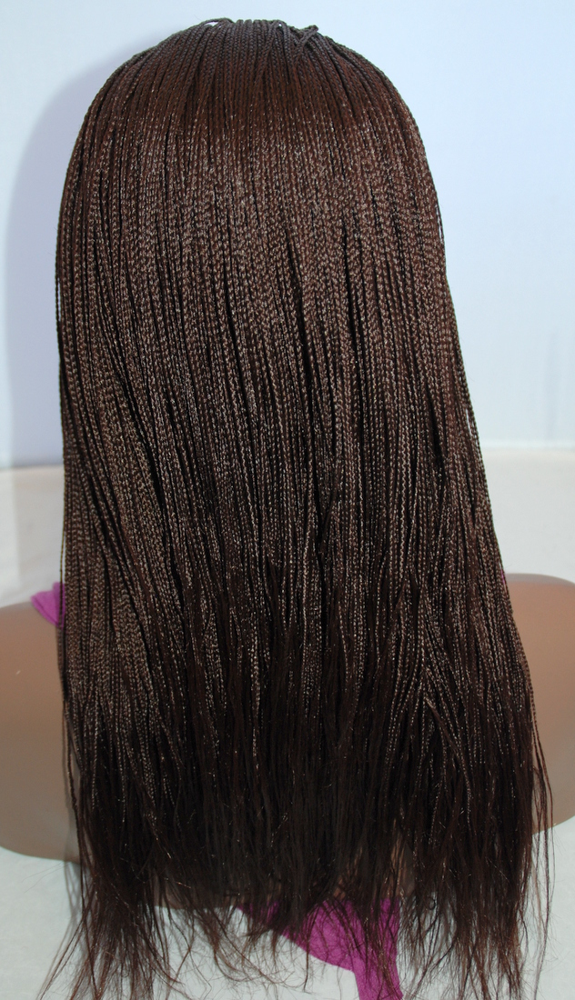 Braided Lace Front Wig Micro Braids Color 33 In 20 Inches