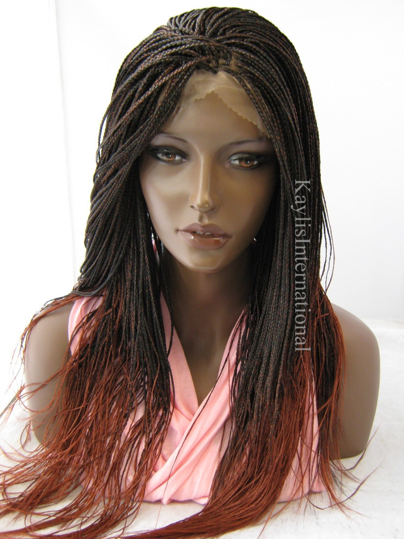 Fully Hand Braided Lace Front Wig Color 350 In 20 Inches