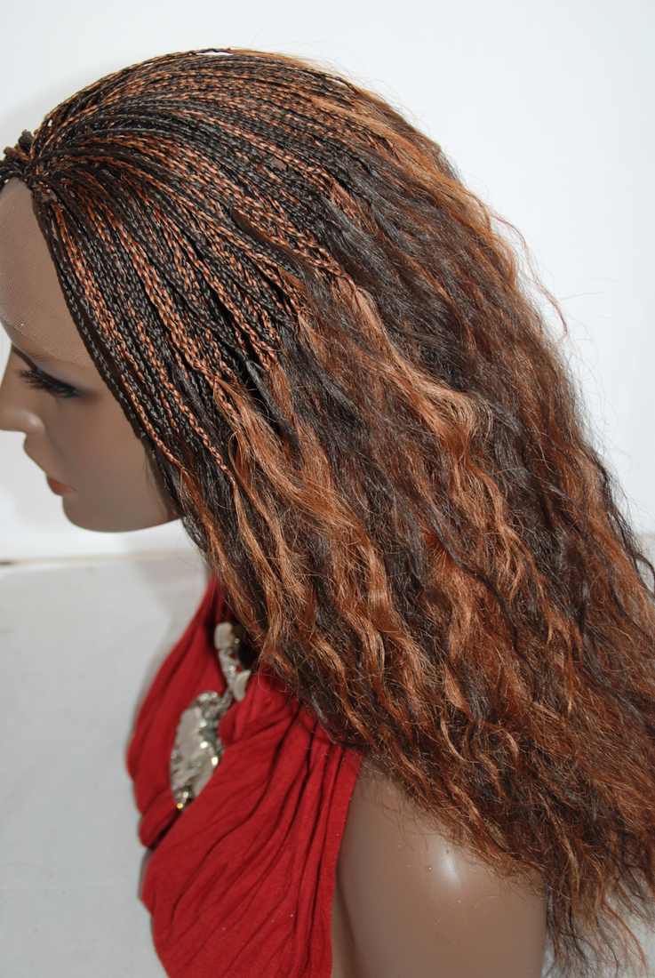 Braided Lace Front Wig Micro Braids Color 430 In 17 Inches