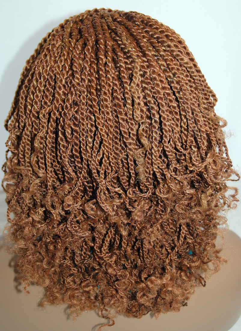 Braided Lace Front Wig Kinky Color 2730 In 12 Inches