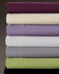 Tribeca Living Egyptian Cotton Percale 350 Thread Count Extra Deep Pocket Sheet Set