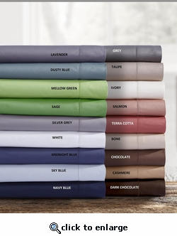 Tribeca Living Egyptian Cotton Sateen 750 Thread Count Deep Pocket Sheet Set