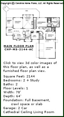 3D Images For CHP-MS-2144-AC - Midsize Contemporary Prairie-Style Ranch 3D House Plan Views