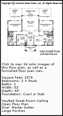 3D Images For CHP-SG-1576-AA - Small Stone Cottage 3D House Plan Views