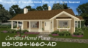 CHP-BS-1084-1660-AD<br />Build-in-Stages Small House Plan<br />2-3 Bedrooms, 2-3 Baths, 1 Story
