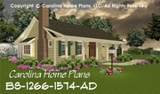 CHP-BS-1266-1574-AD<br /> Small Expandable Country House Plan<br />2-3 Bedrooms, 1&#189;-2&#189; Baths, 1 Story