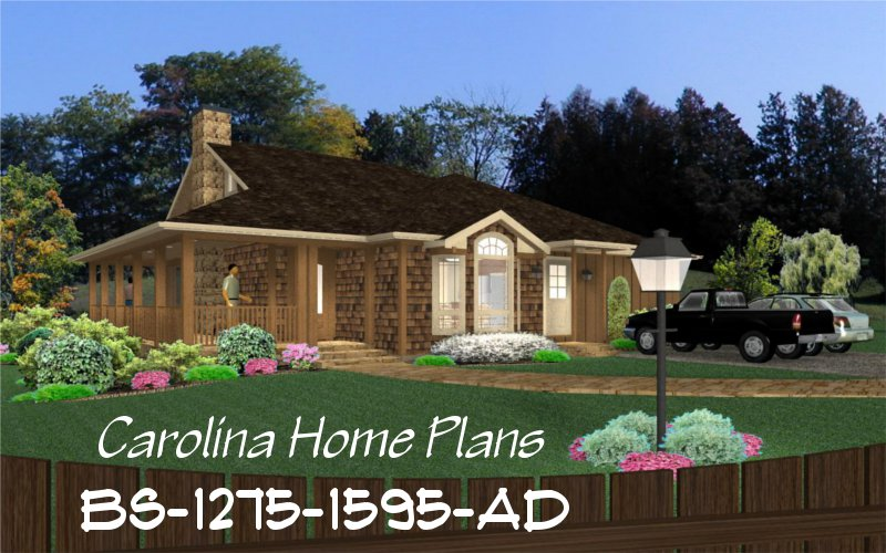 Small build in stages house plan bs 1275 1595 ad sq ft for Small expandable house plans