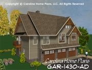 CHP-GAR-1430-AD<br />Small Budget Garage-Apartment Plan<br />1 Bedroom, 1&#189; Baths, 2 Floors