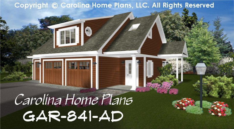 Low cost garage apartment plan gar 841 ad sq ft small for Single story garage apartment
