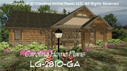 CHP-LG-2810-GA<br />Large Craftsman House Plan <br />4 Br, 4½ Baths, 2 Story-Down