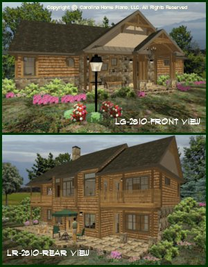 CHP-LG-2810-GA<br />Large Craftsman House Plan <br />4 Br, 4&#189; Baths, 2 Story-Down