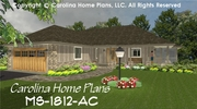 CHP-MS-1812-AC<br />Mid-sized Open House Plan <br />2 Br + Study, 2 Baths, 1 Story