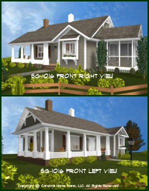 chp sg 1016 aasmall cottage style house plan - Small Cottage 2