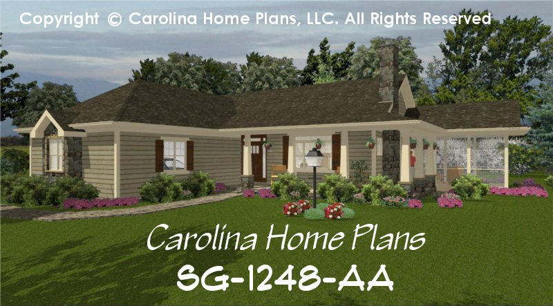 CHP SG 1248 AAu003cbr /u003eSmall Country Ranch House Plan