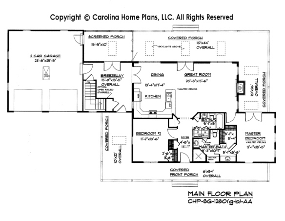 Small Country Cottage House Plan SG-1280-AA Sq Ft | Affordable Small ...