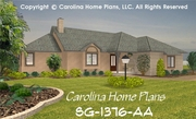 CHP-SG-1376-AA<br />Small Florida Style House Plan <br />2 Bedrooms, 2 Baths, 1 Story