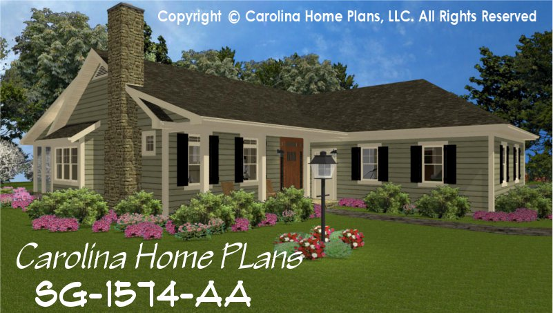 Small country style house plan sg 1574 sq ft affordable for 3 bedroom country home plans