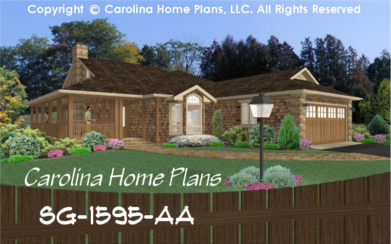 Small Bungalow Style House Plan 3 Bedrooms 2 Baths 1 Story