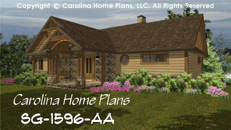 Small craftsman bungalow house plan chp sg 1596 aa sq ft for Small craftsman bungalow house plans