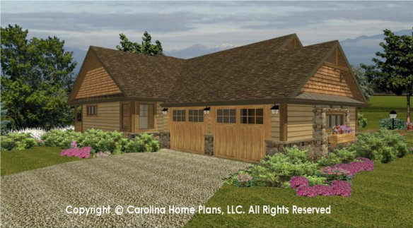 Small craftsman bungalow house plan chp sg 1596 aa sq ft for Small craftsman house plans with garage