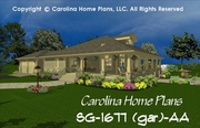 CHP-SG-1677 Stone Craftsman Bungalow House Plan