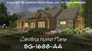 CHP-SG-1688-AA<br />Small Craftsman Cabin House Plan <br />2 Br + Study, 2&#189; Baths, 1 Story