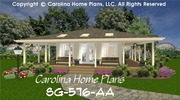 CHP-SG-576-AA<br />Tiny Cottage Style House Plan<br />1 Bedroom, 1 Bath, 1 Story