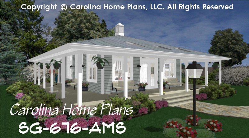Tiny Country Cottage House Plan SG-676 Sq Ft | Affordable Small ...